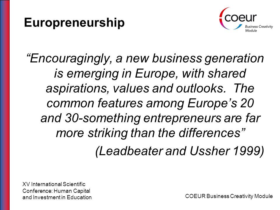Europreneurship