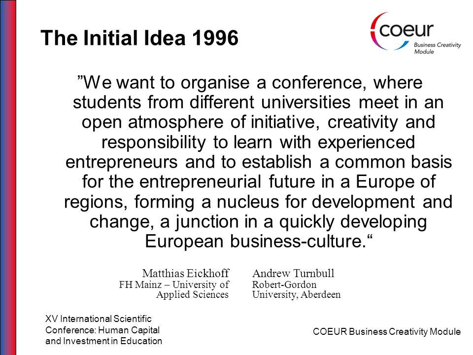 The Initial Idea 1996