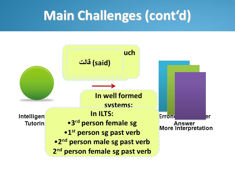 Main Challenges (cont'd)