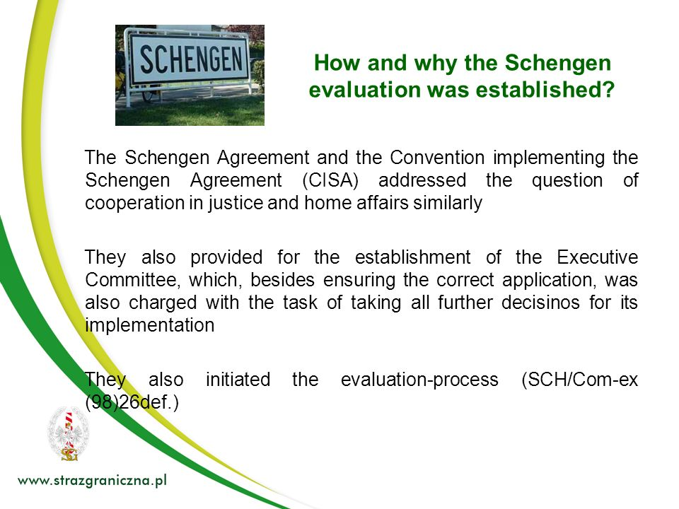 How and why the Schengen evaluation was established