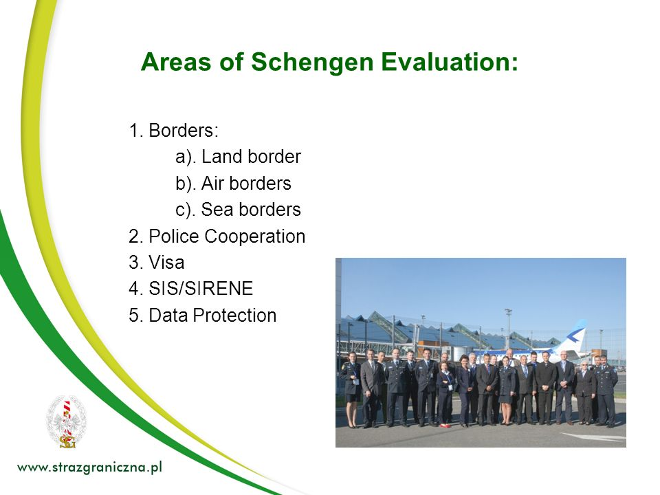 Areas of Schengen Evaluation: