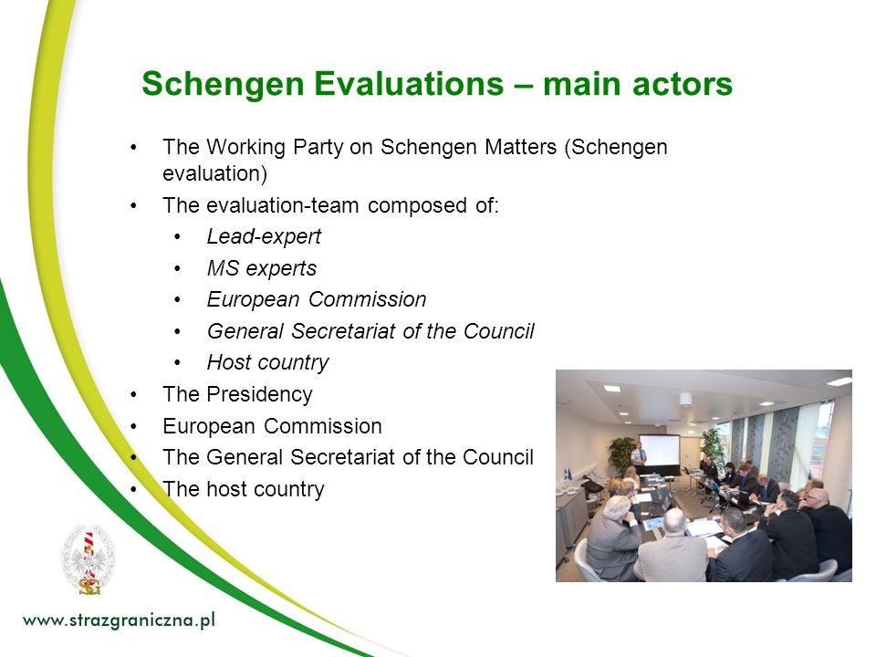 Schengen Evaluations – main actors
