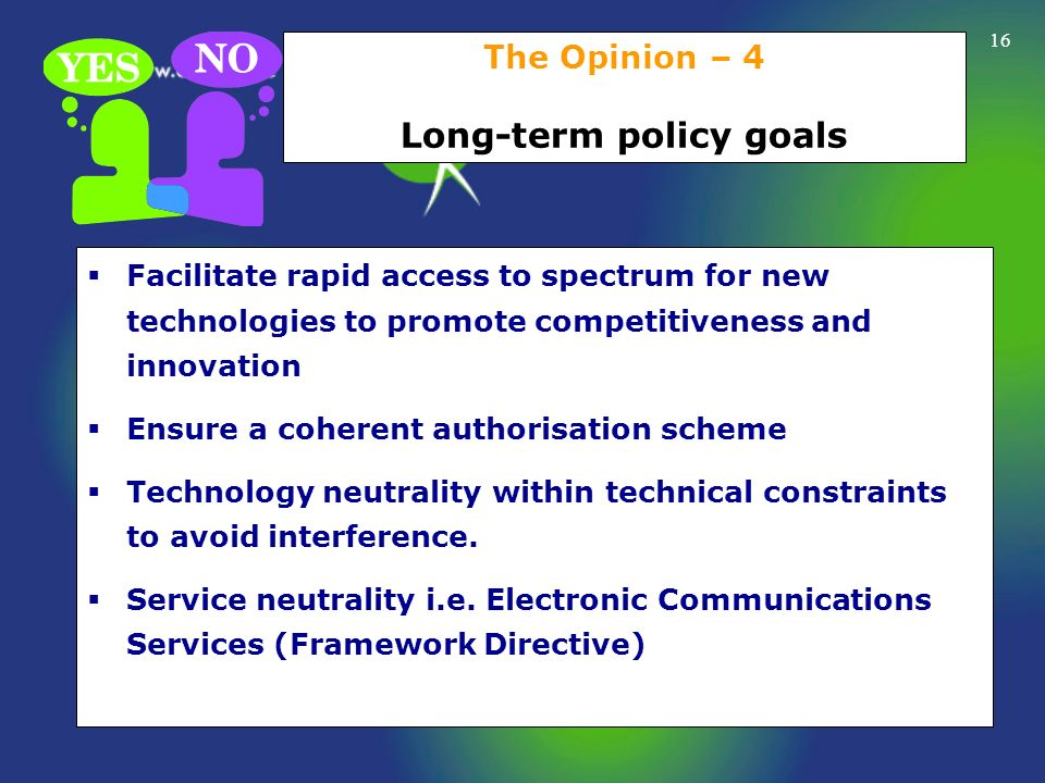 The Opinion – 4 Long-term policy goals