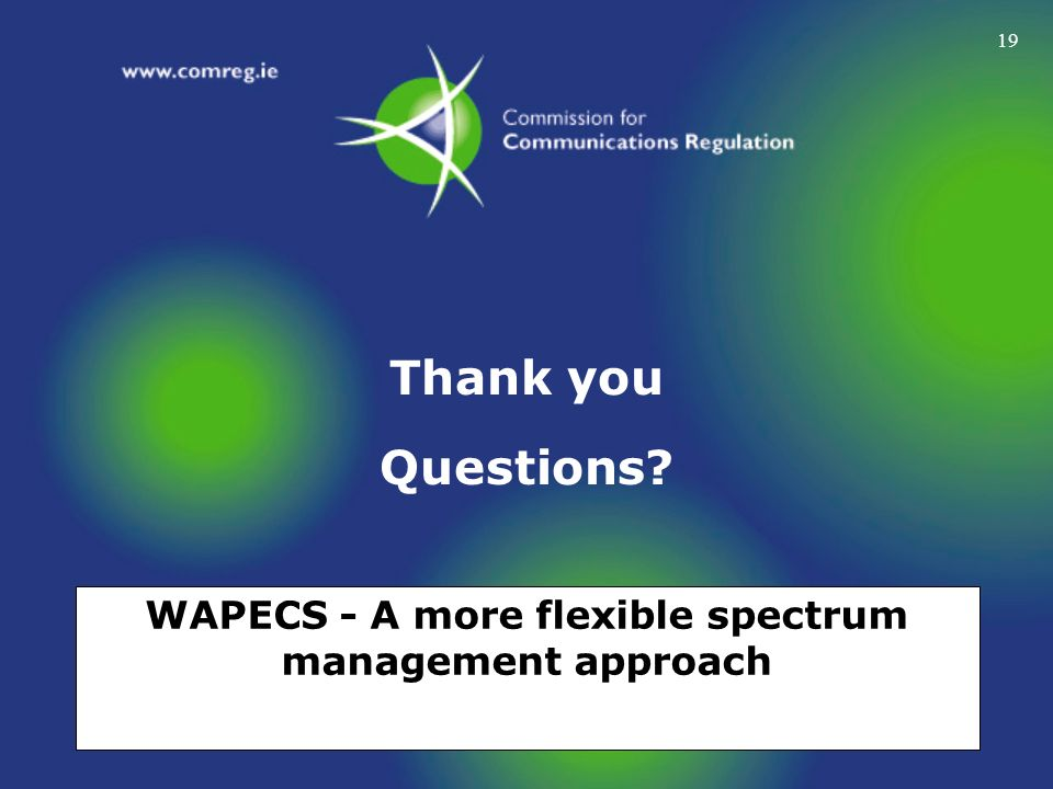 WAPECS - A more flexible spectrum management approach