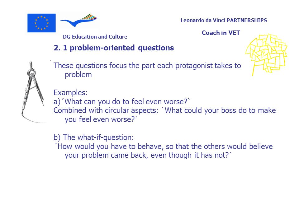 2. 1 problem-oriented questions