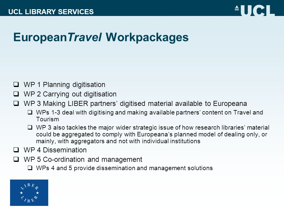 EuropeanTravel Workpackages