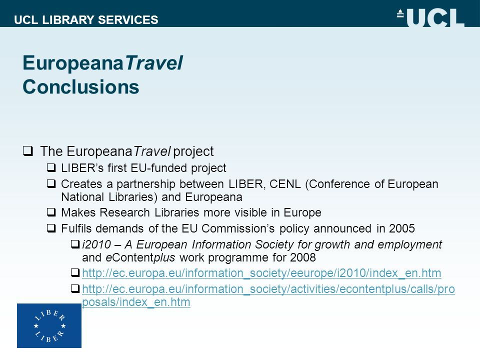 EuropeanaTravel Conclusions