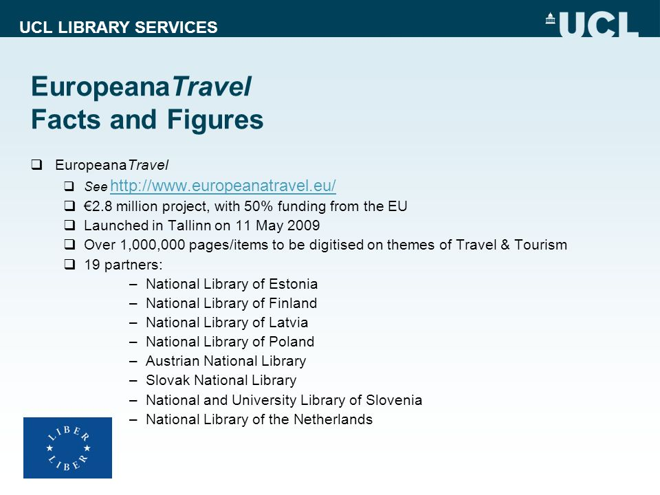 EuropeanaTravel Facts and Figures