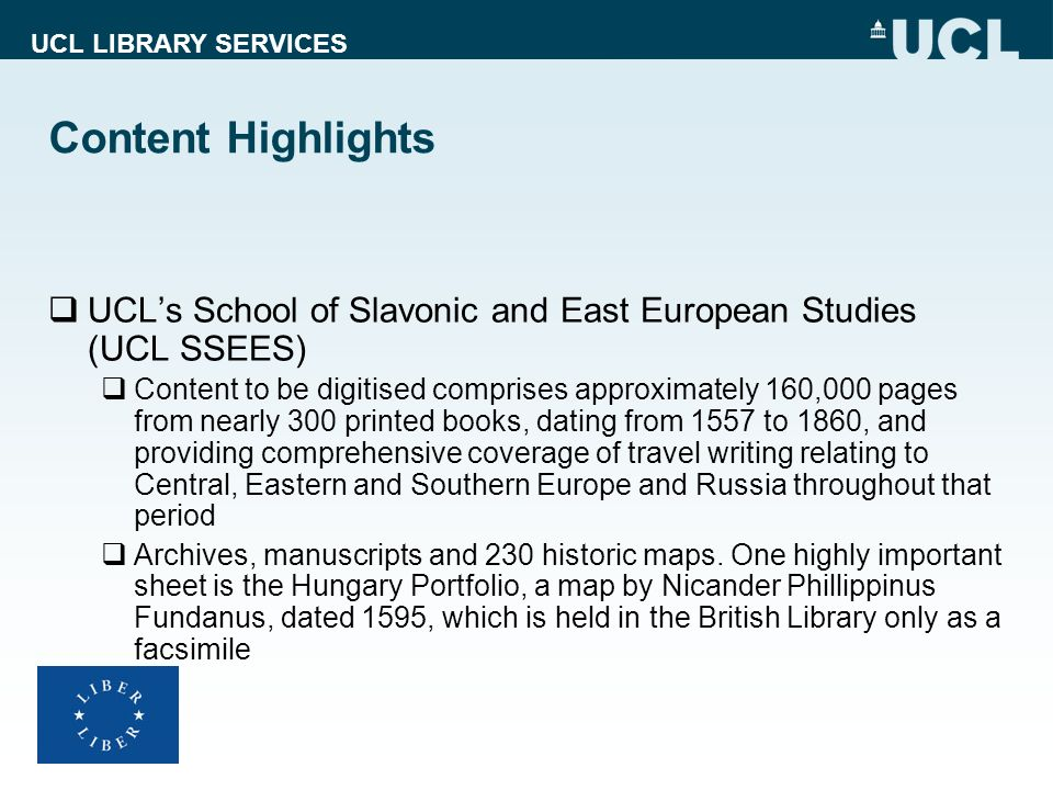 Content Highlights UCL's School of Slavonic and East European Studies (UCL SSEES)