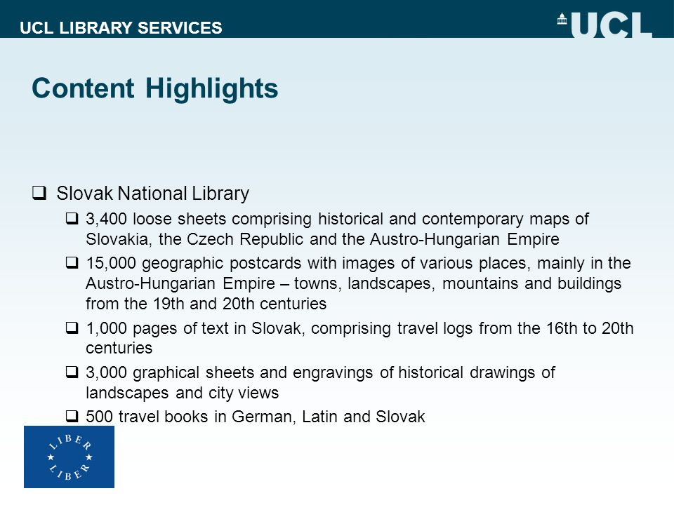 Content Highlights Slovak National Library