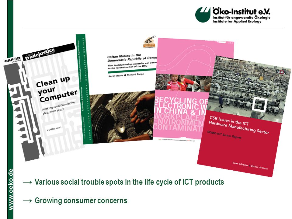 → Various social trouble spots in the life cycle of ICT products