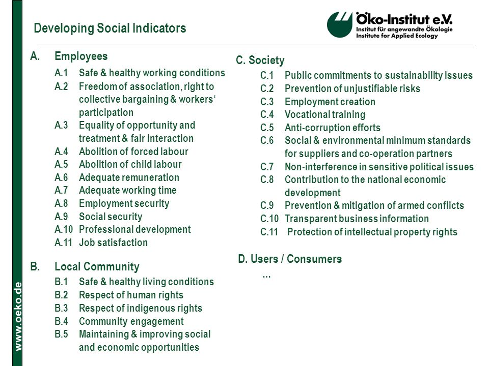 Developing Social Indicators