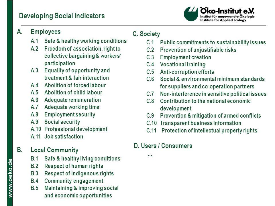 Developing Social Indicators