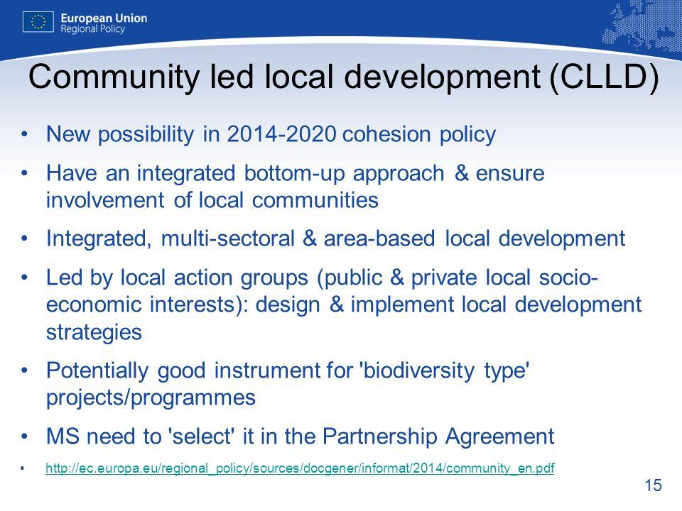 Community led local development (CLLD)
