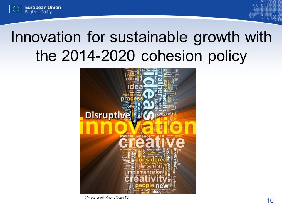 Innovation for sustainable growth with the 2014-2020 cohesion policy