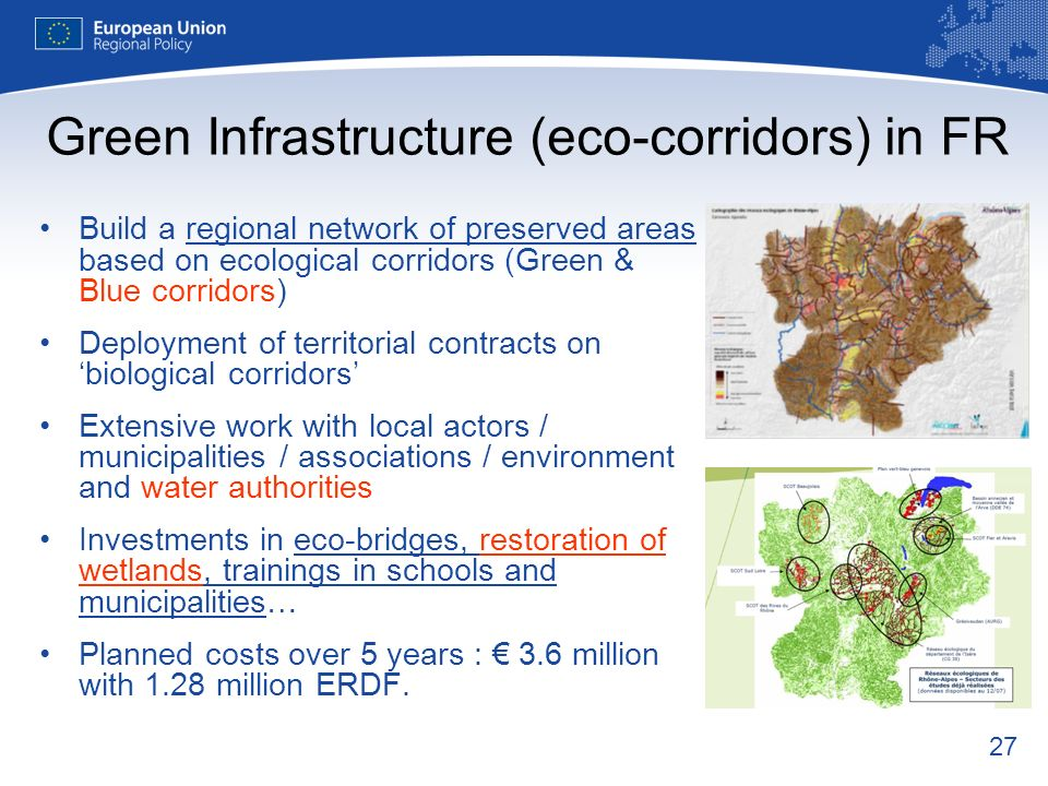Green Infrastructure (eco-corridors) in FR