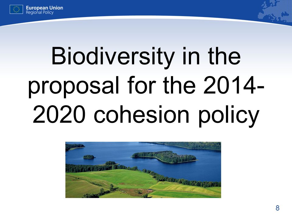 Biodiversity in the proposal for the 2014-2020 cohesion policy