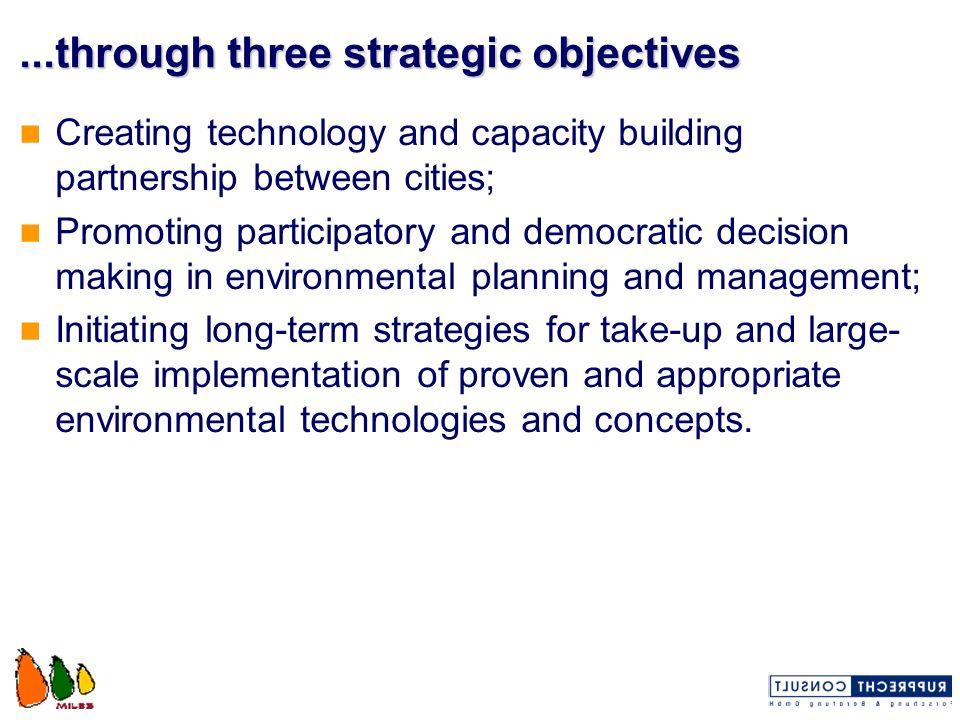 ...through three strategic objectives