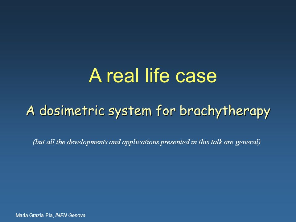 A dosimetric system for brachytherapy