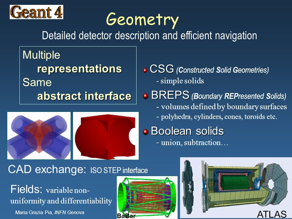 Detailed detector description and efficient navigation