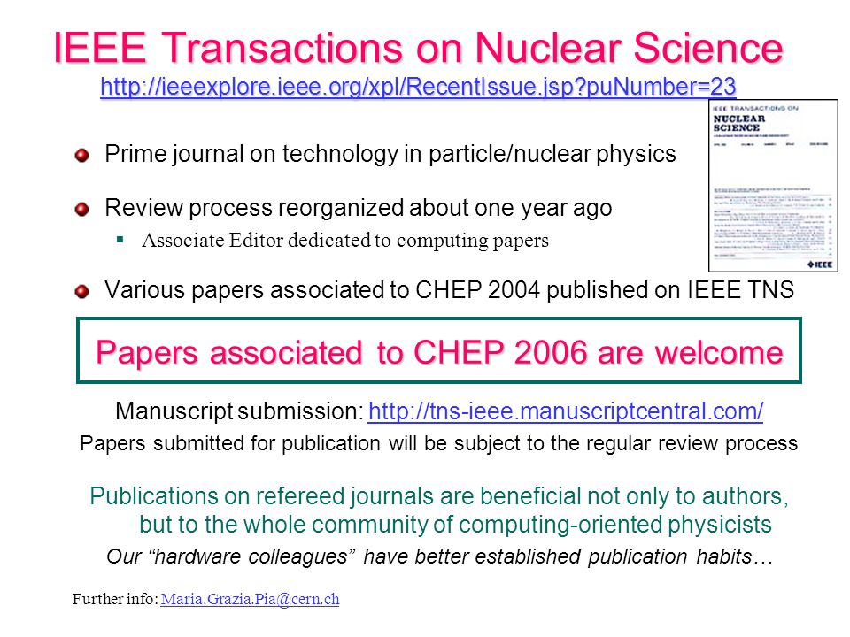 IEEE Transactions on Nuclear Science http://ieeexplore. ieee