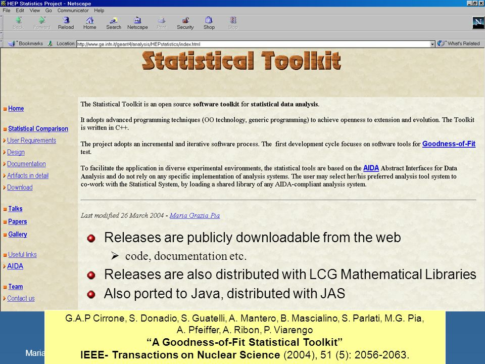 A Goodness-of-Fit Statistical Toolkit
