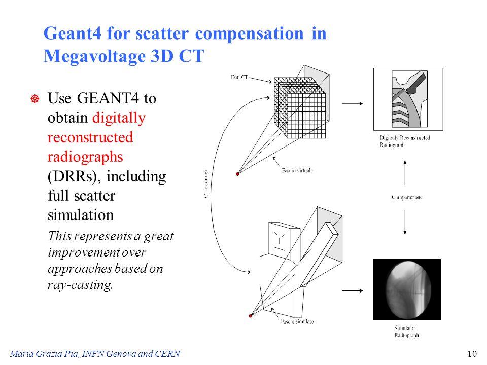 Geant4 for scatter compensation in Megavoltage 3D CT
