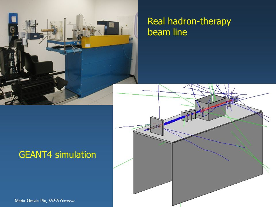Real hadron-therapy beam line