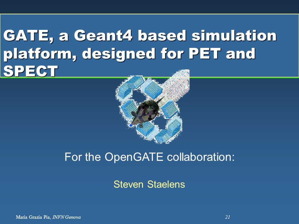 GATE, a Geant4 based simulation platform, designed for PET and SPECT