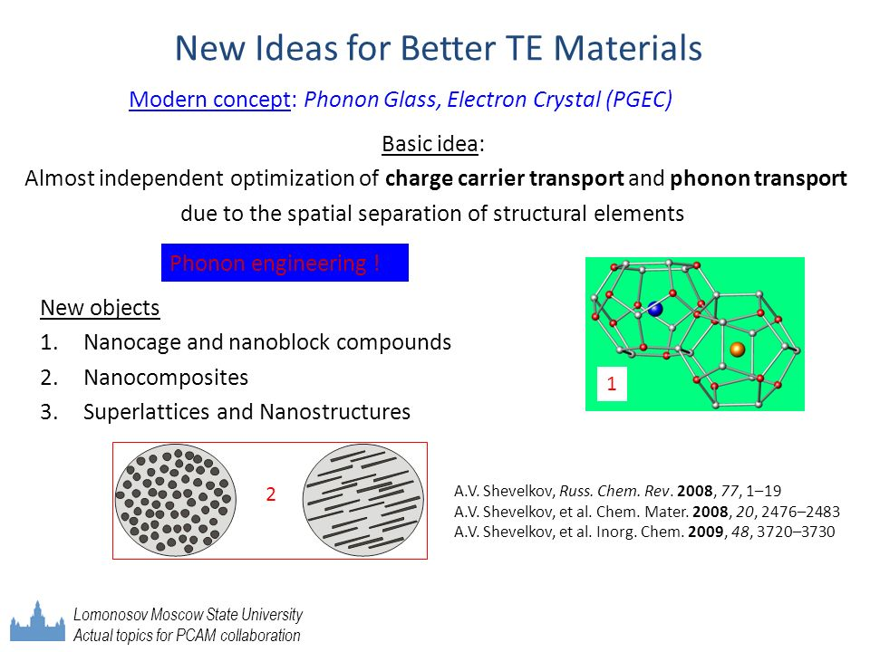 New Ideas for Better TE Materials