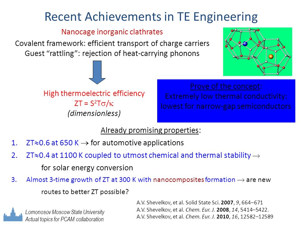 Recent Achievements in TE Engineering