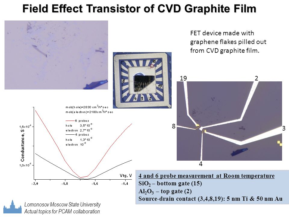 Field Effect Transistor of CVD Graphite Film