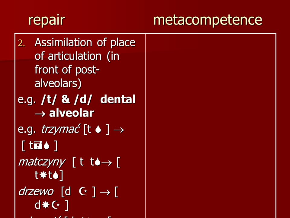 repair metacompetence