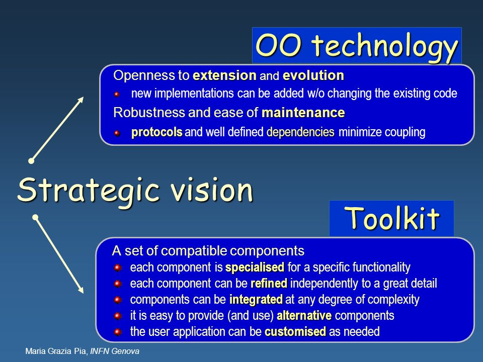 Strategic vision OO technology Toolkit