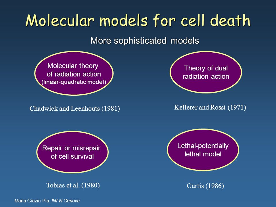 Molecular models for cell death