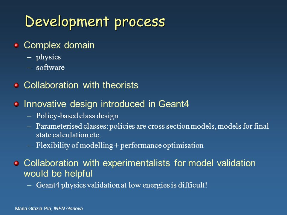 Development process Complex domain Collaboration with theorists