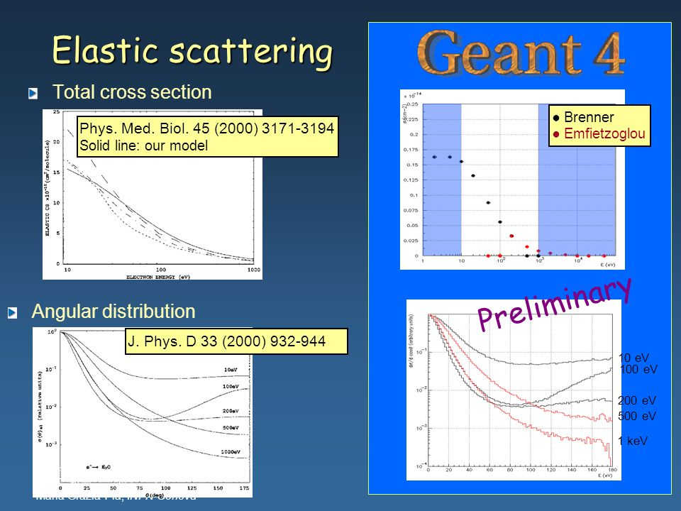 Elastic scattering Preliminary Total cross section