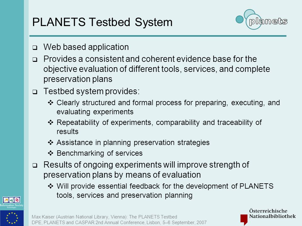 PLANETS Testbed System