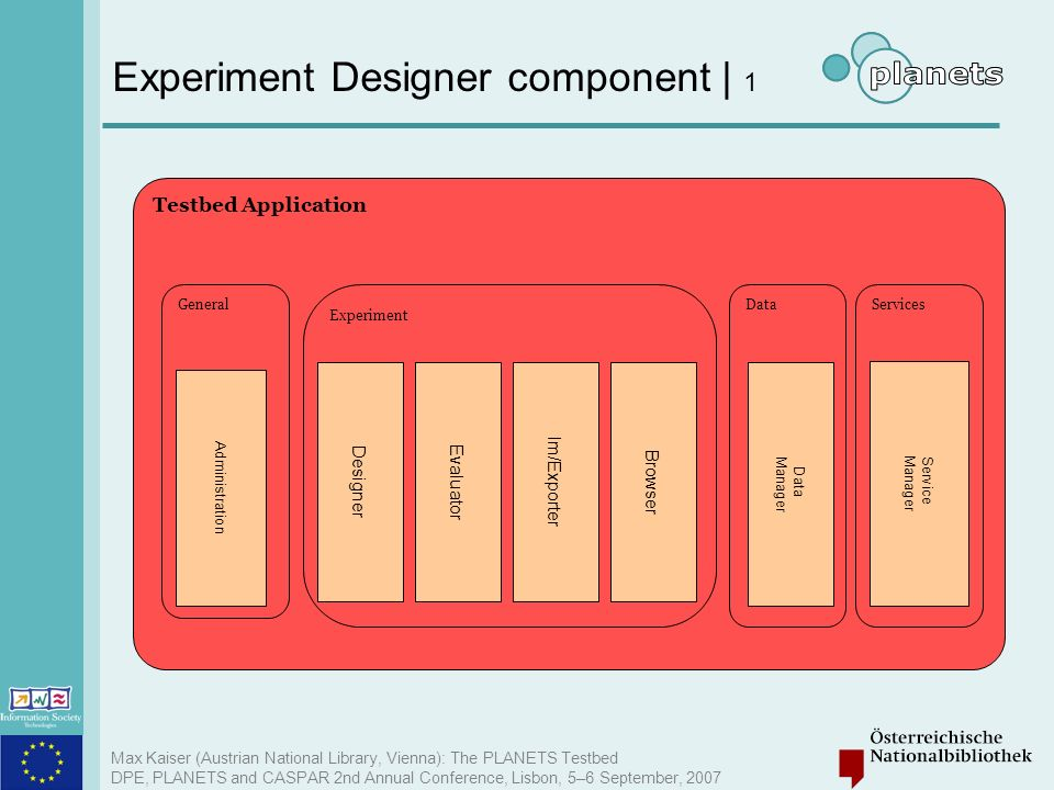 Experiment Designer component | 1