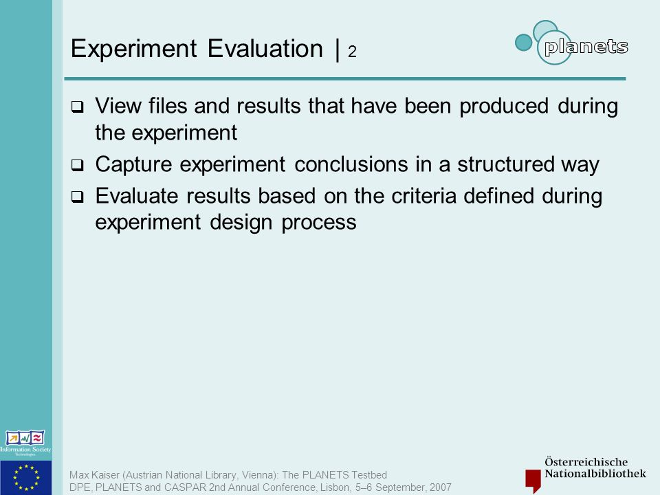 Experiment Evaluation | 2