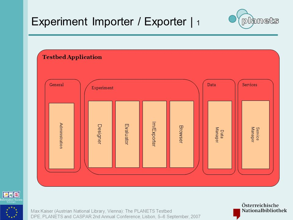 Experiment Importer / Exporter | 1