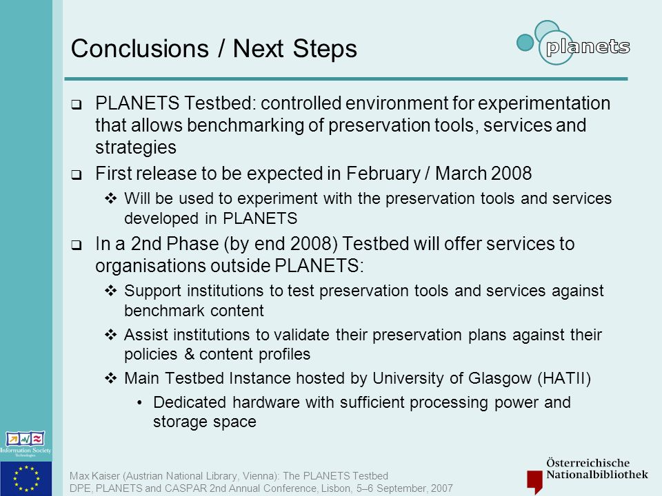 Conclusions / Next Steps