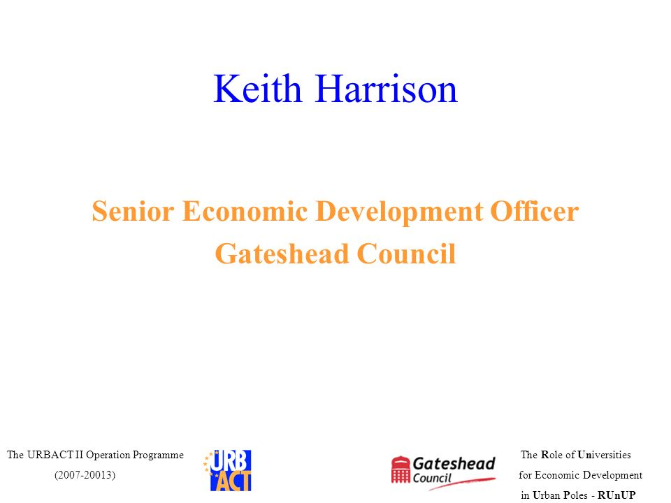Senior Economic Development Officer