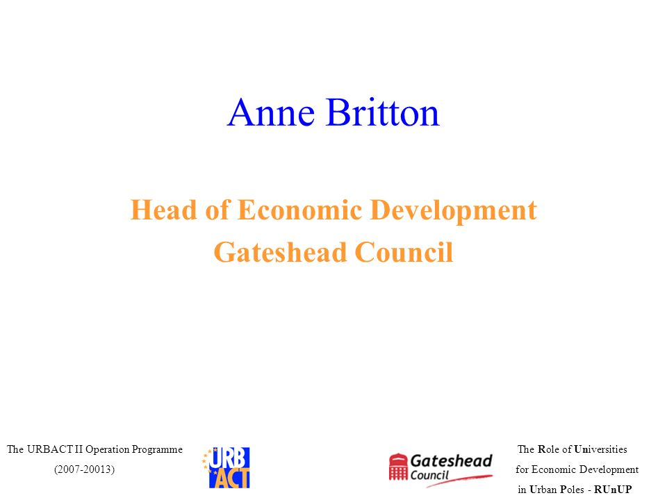 Head of Economic Development