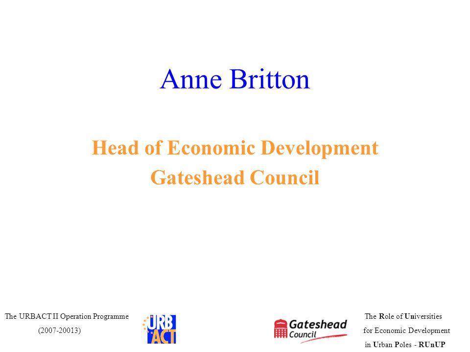 Head of Economic Development
