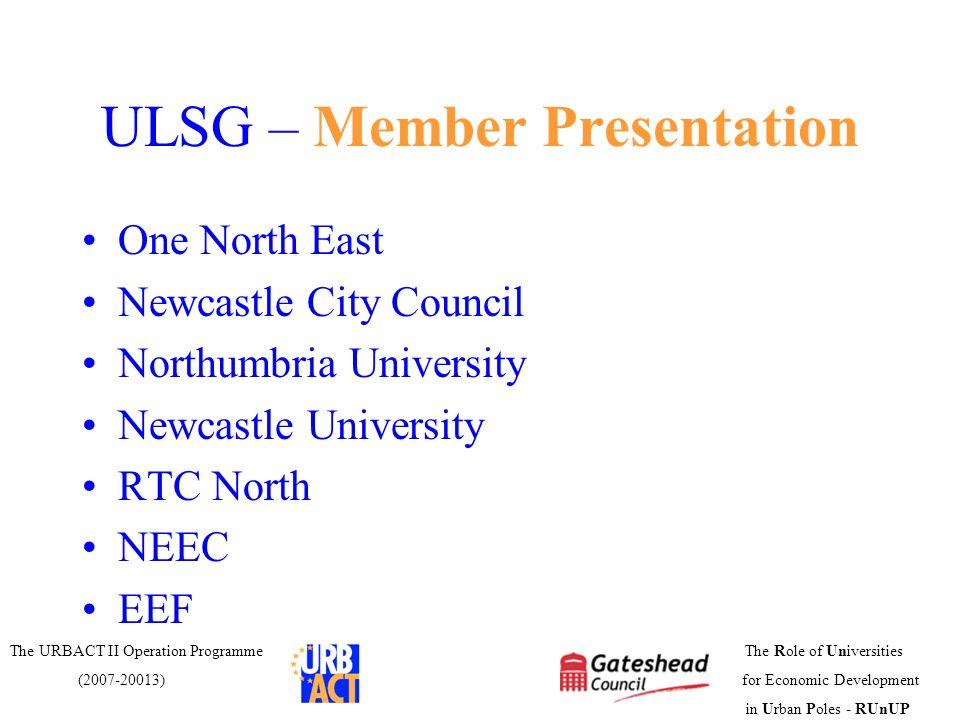 ULSG – Member Presentation