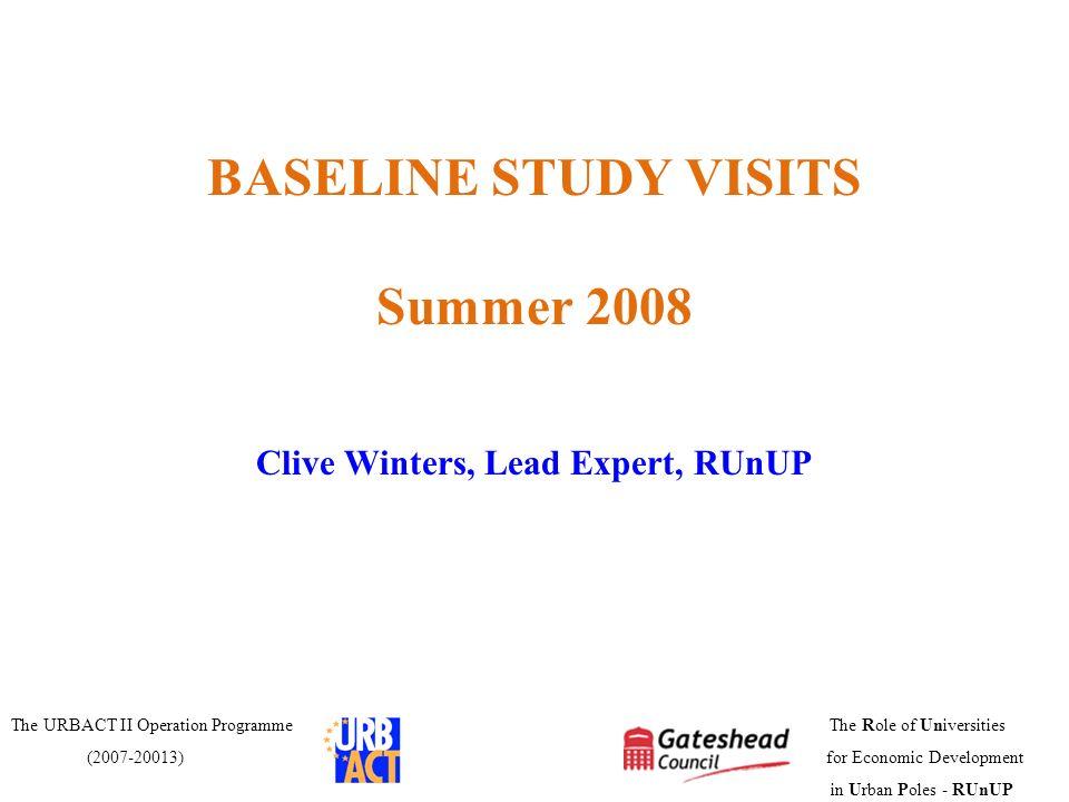 BASELINE STUDY VISITS Summer 2008