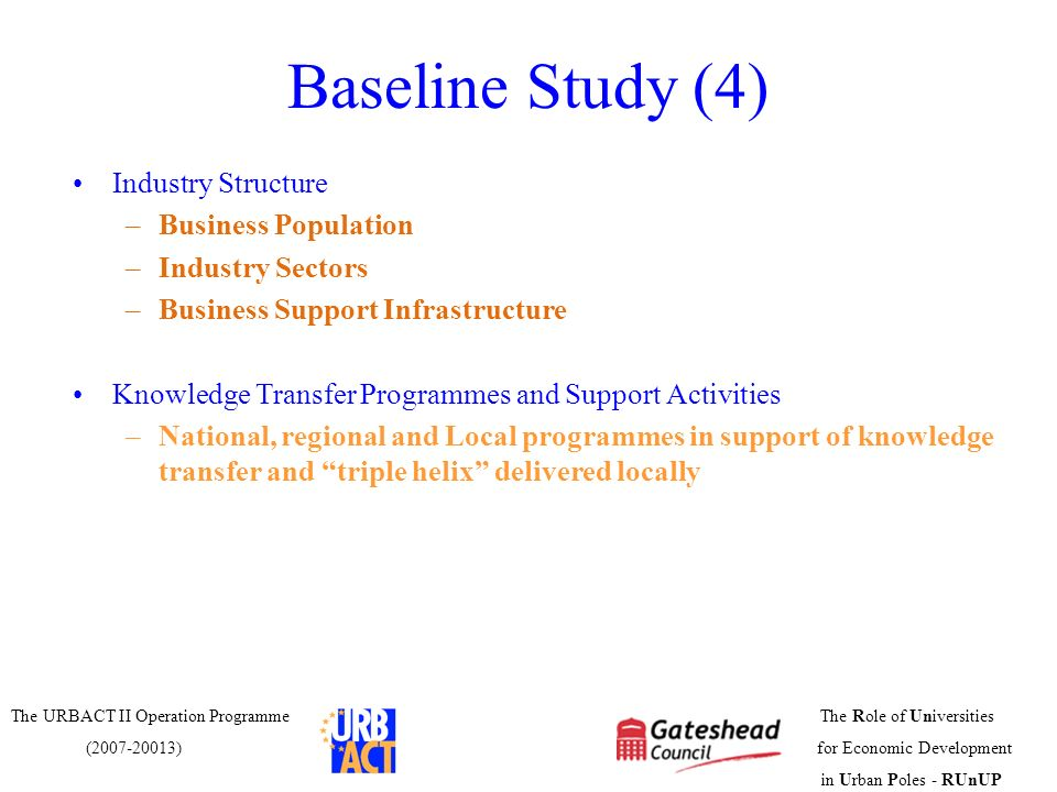 Baseline Study (4) Industry Structure Business Population
