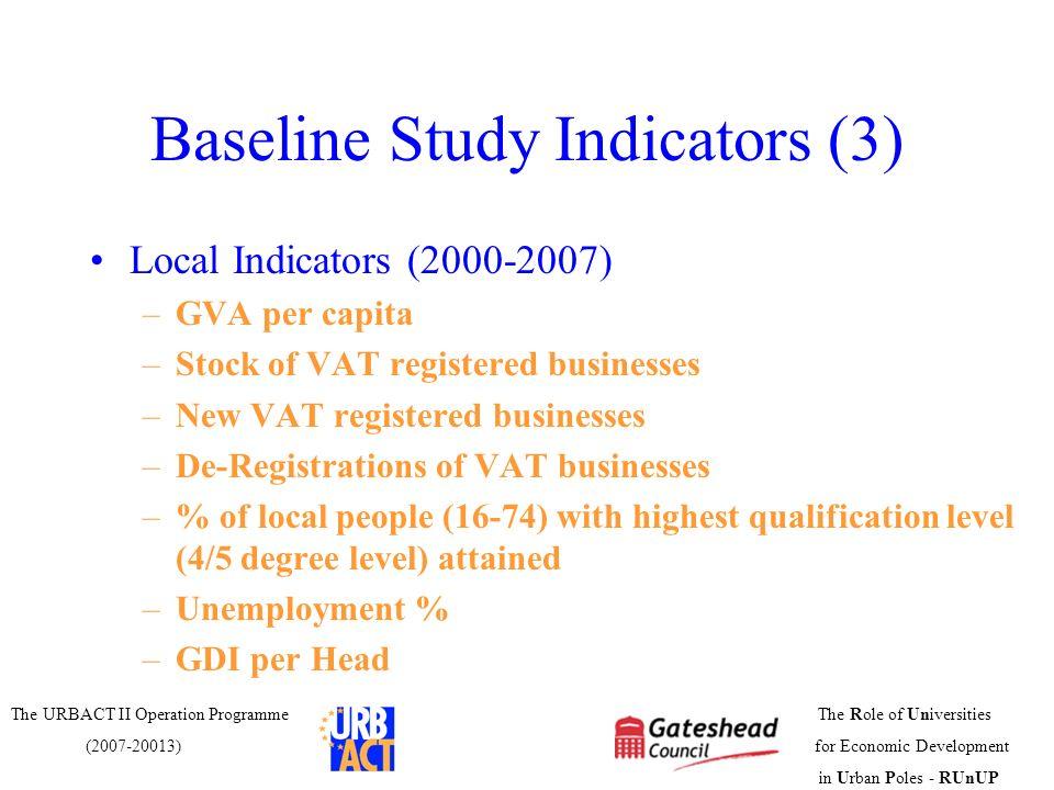 Baseline Study Indicators (3)