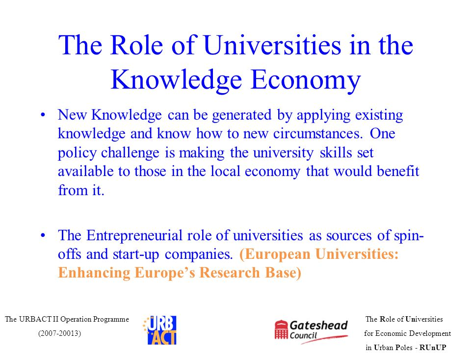 the role of universities Number of \entrepreneurial universities playing an enhanced role in  technological  role of universities in technology-based new ventures.